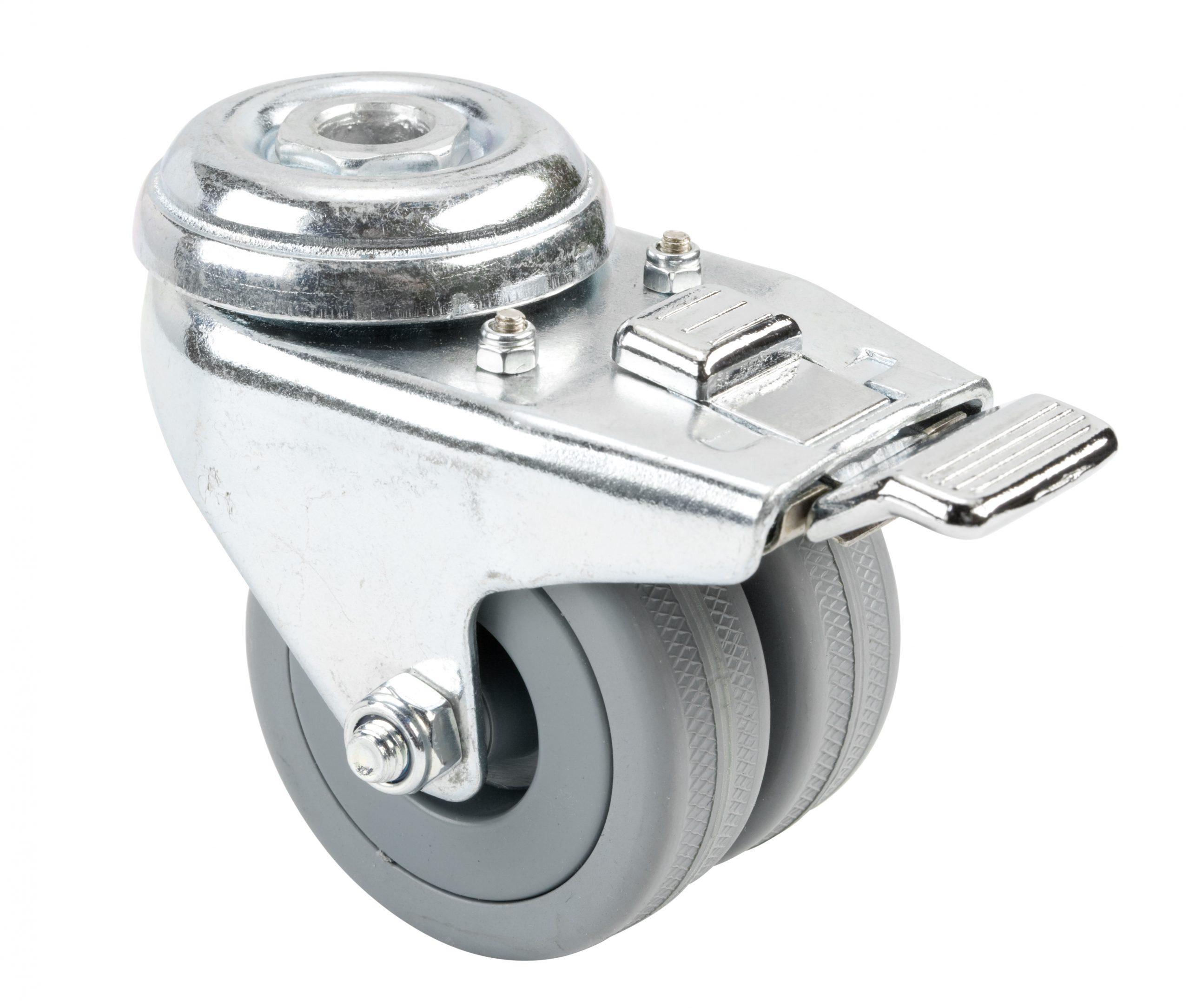 Castor – 50mm Twin Toe-Braked
