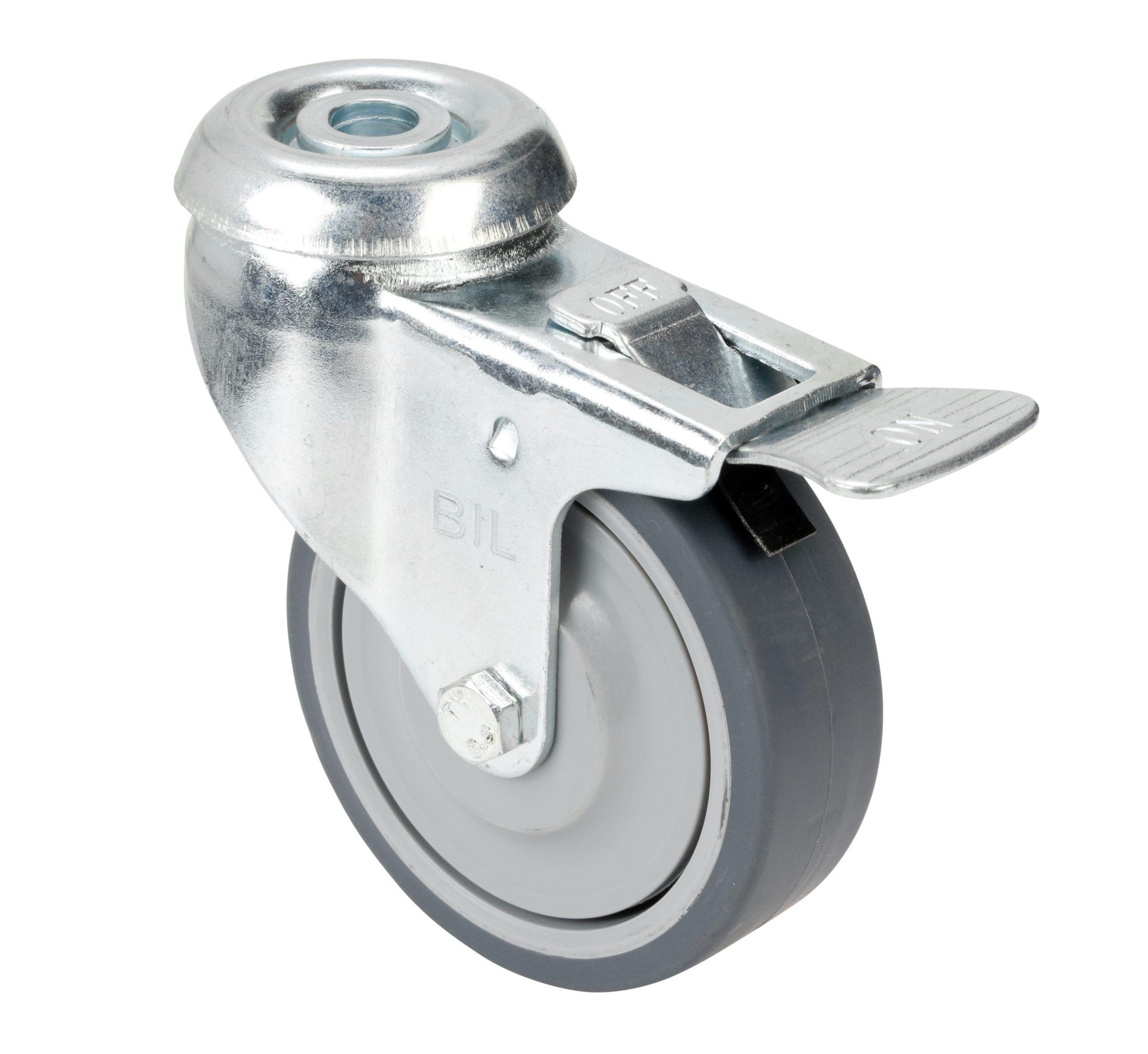 Castor – 75mm Toe-Braked